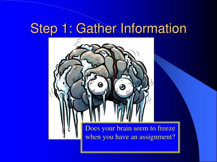 Step 1: Gather Information