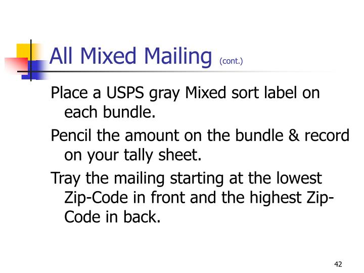 All Mixed Mailing