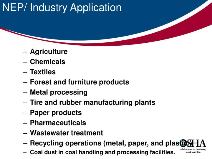 NEP/ Industry Application