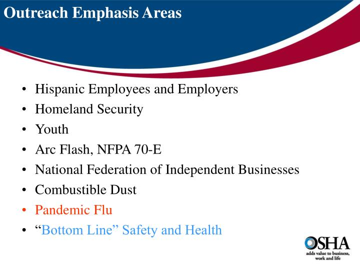 Outreach Emphasis Areas