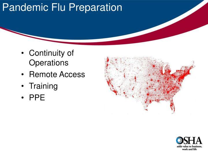 Pandemic Flu Preparation