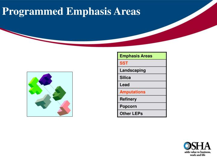 Programmed Emphasis Areas