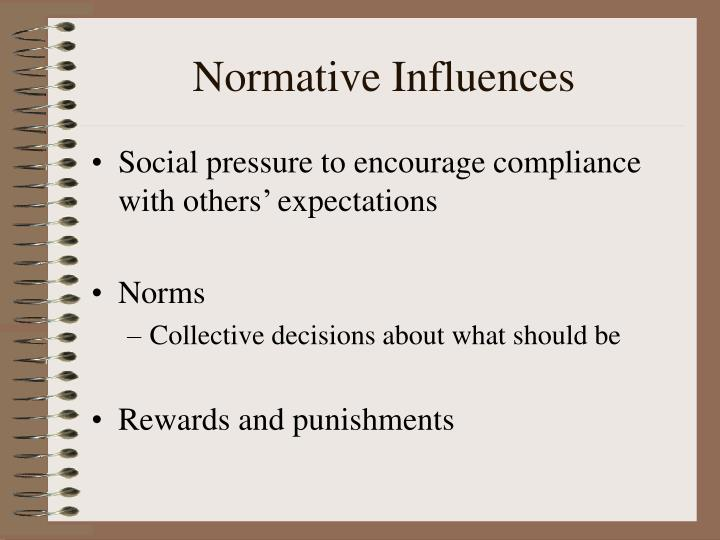 Normative Influences