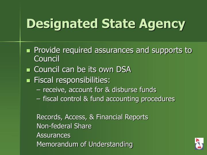 Designated State Agency