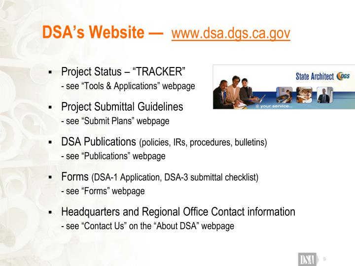 DSA's Website —