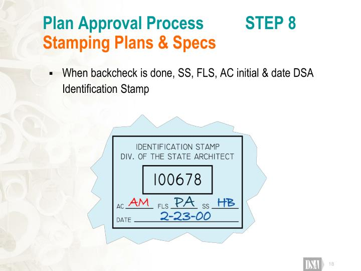 Plan Approval Process          STEP 8