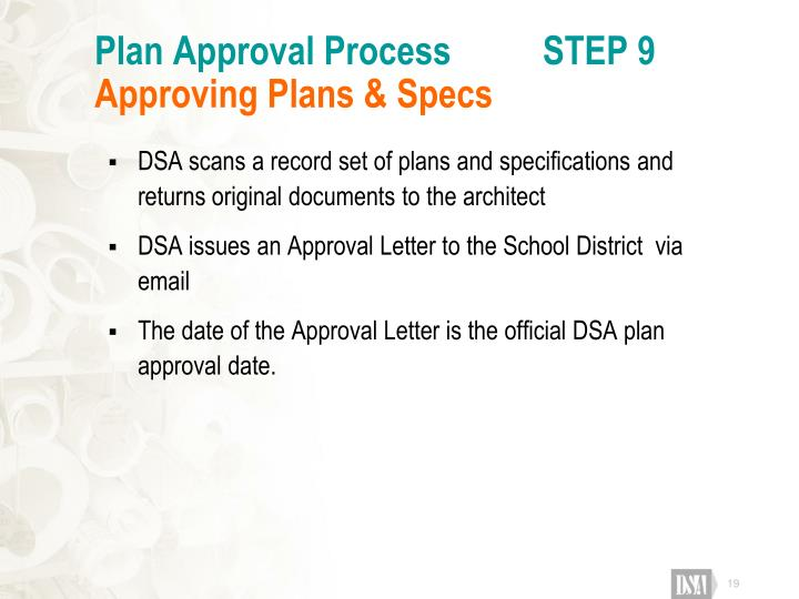 Plan Approval Process          STEP 9