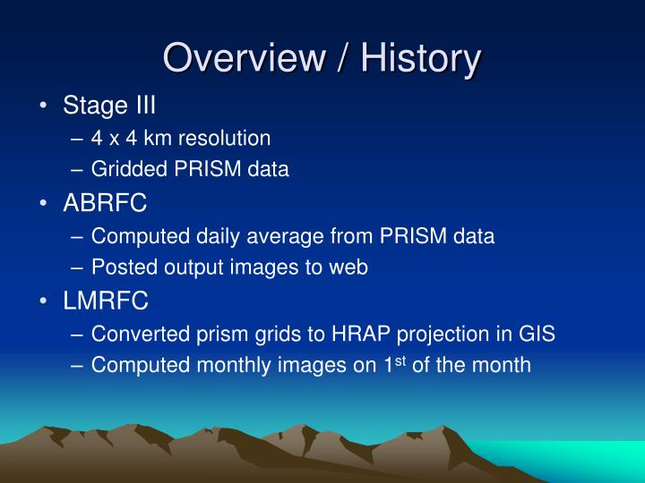 Overview / History