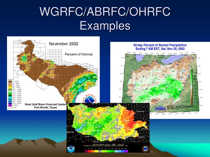 WGRFC/ABRFC/OHRFC Examples