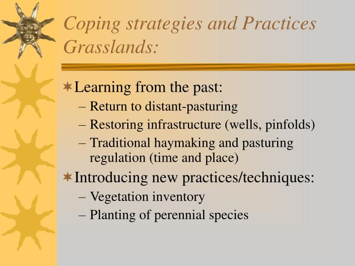 Coping strategies and Practices