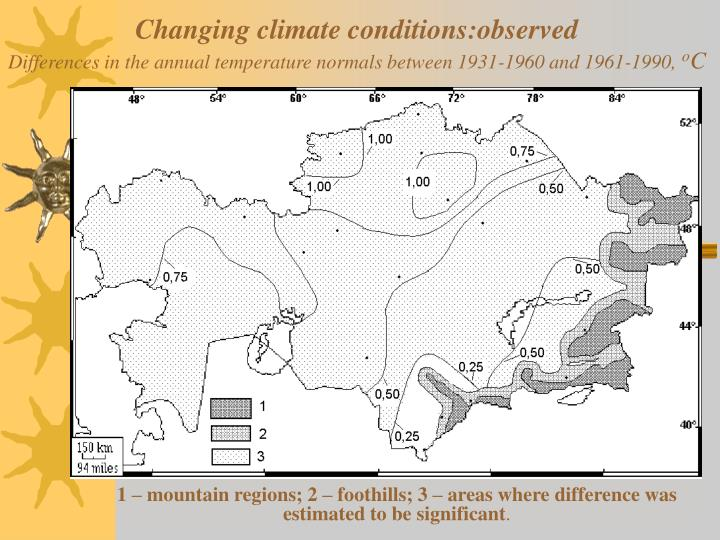 Changing climate conditions:observed