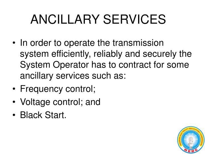 ANCILLARY SERVICES