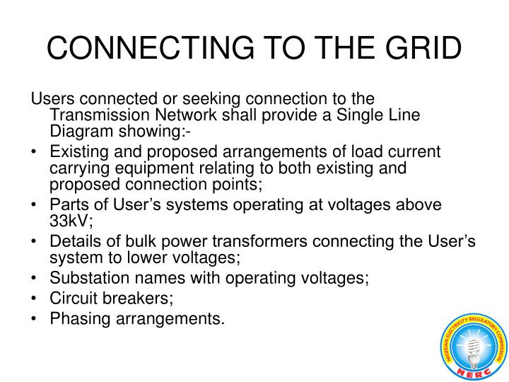 CONNECTING TO THE GRID