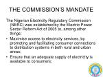 the commission s mandate
