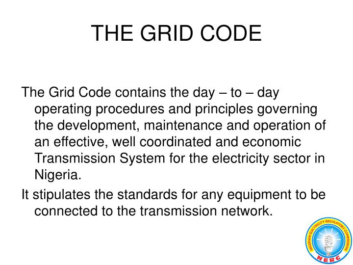 THE GRID CODE