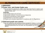 alternative care services