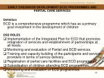 early childhood development ecd programmes and partial care services