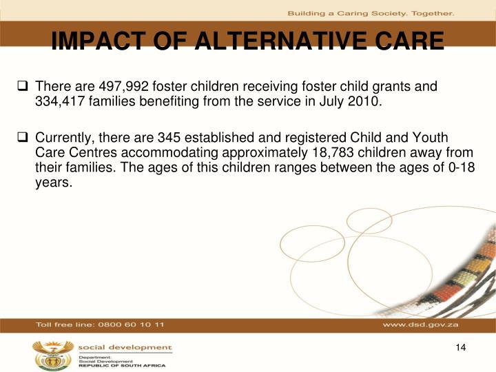 IMPACT OF ALTERNATIVE CARE