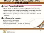 impact of the social assistance programme