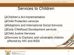 s ervices to children