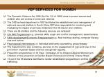 vep services for women