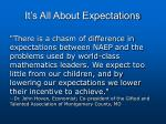 it s all about expectations