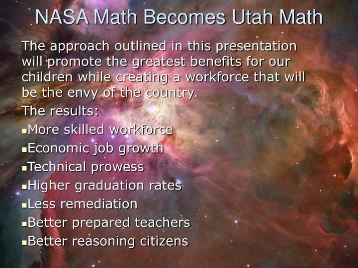 NASA Math Becomes Utah Math