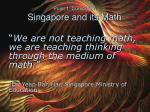 point 1 curriculum singapore and its math