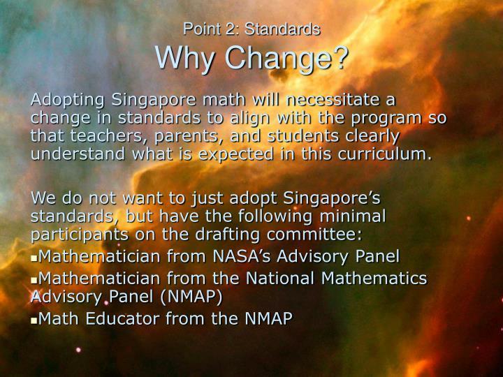 Point 2: Standards