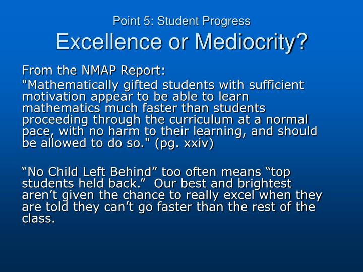 Point 5: Student Progress