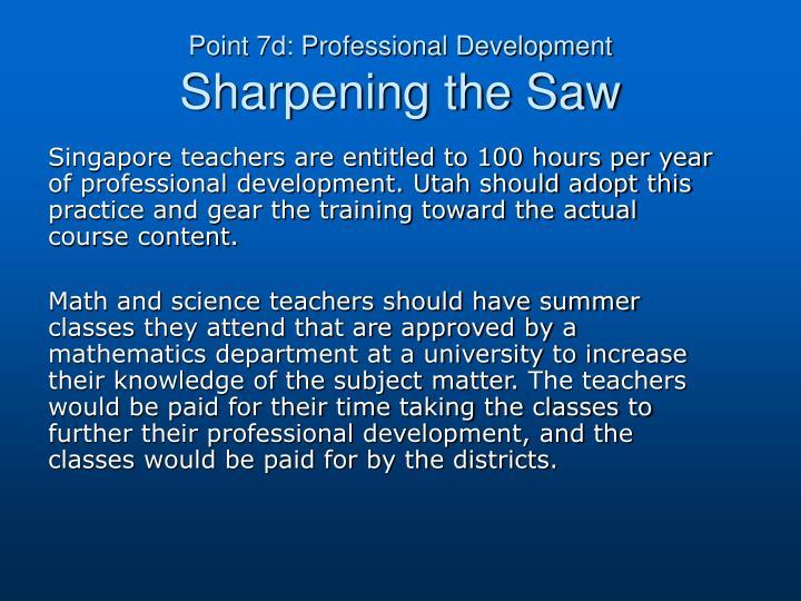 Point 7d: Professional Development