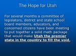 the hope for utah
