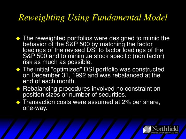 Reweighting Using Fundamental Model