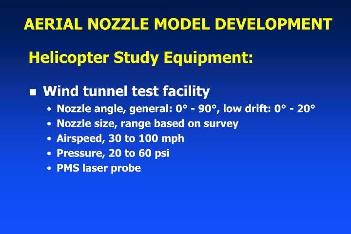 AERIAL NOZZLE MODEL DEVELOPMENT
