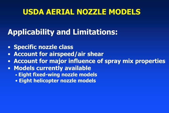 USDA AERIAL NOZZLE MODELS
