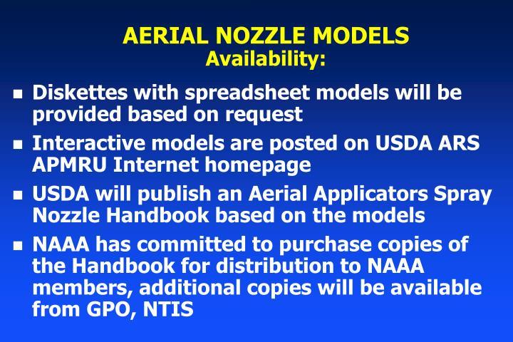 AERIAL NOZZLE MODELS