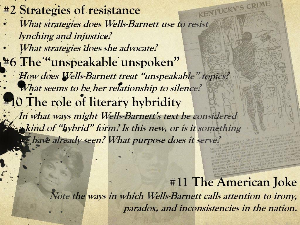 #2Strategies of resistance