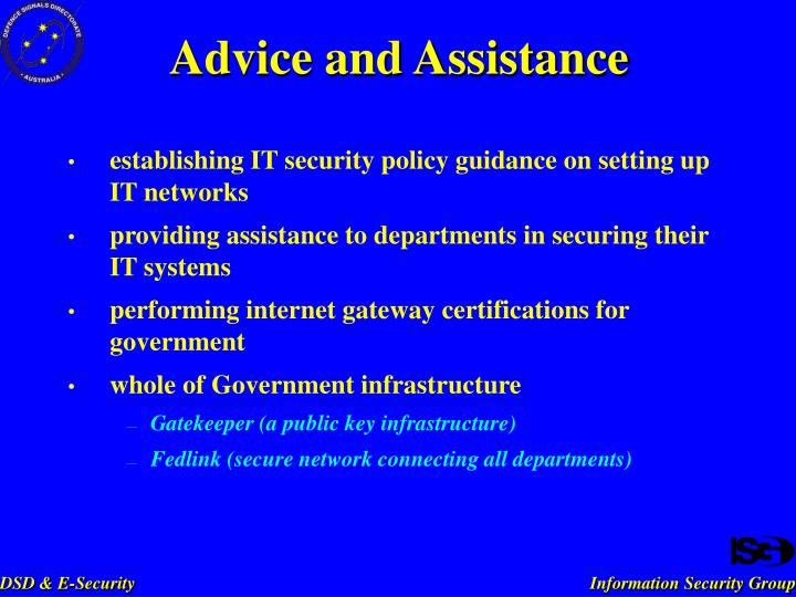 establishing IT security policy guidance on setting up IT networks