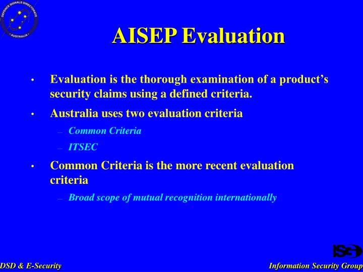 AISEP Evaluation