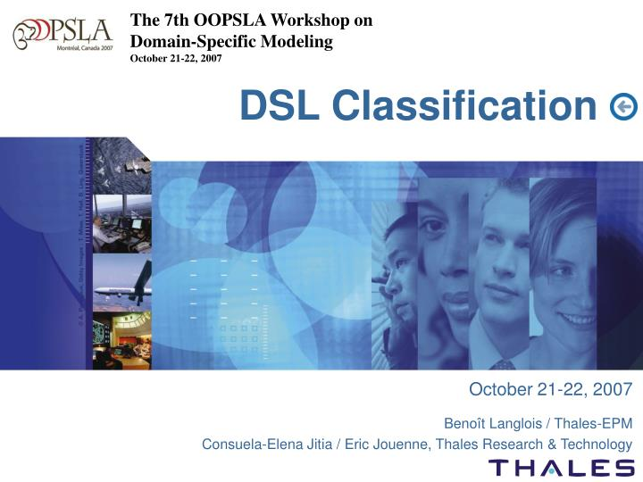 The 7th OOPSLA Workshop on