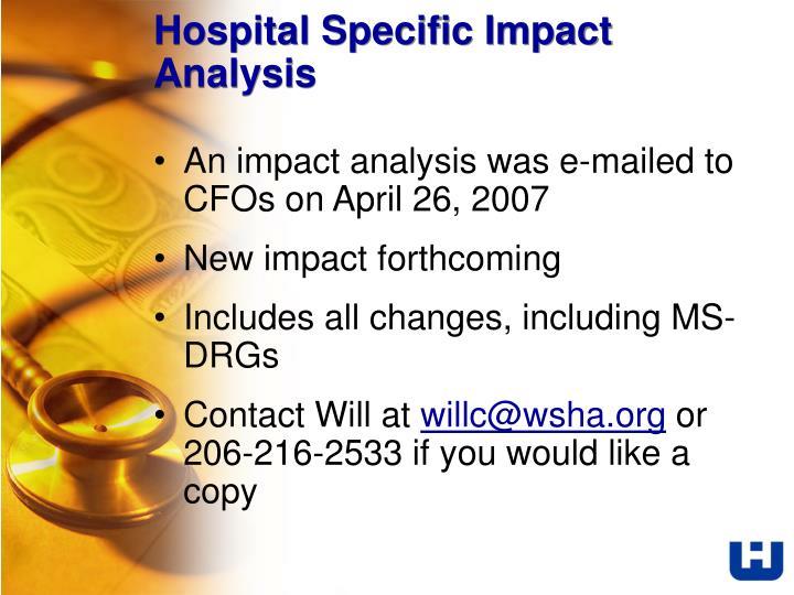 Hospital Specific Impact Analysis