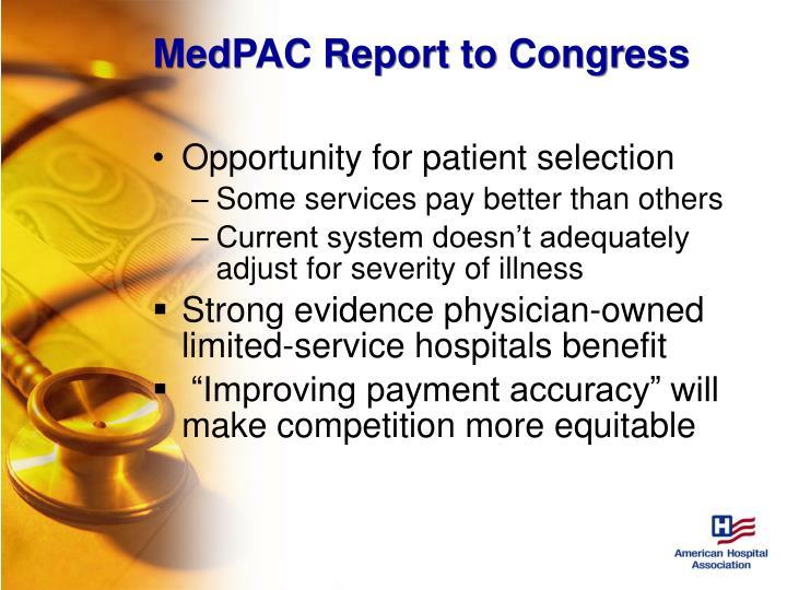 MedPAC Report to Congress