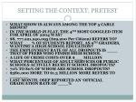 setting the context pretest
