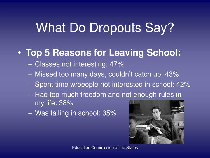 What Do Dropouts Say?