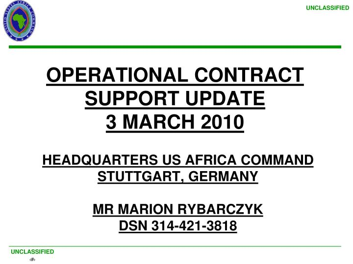 headquarters us africa command stuttgart germany mr marion rybarczyk dsn 314 421 3818