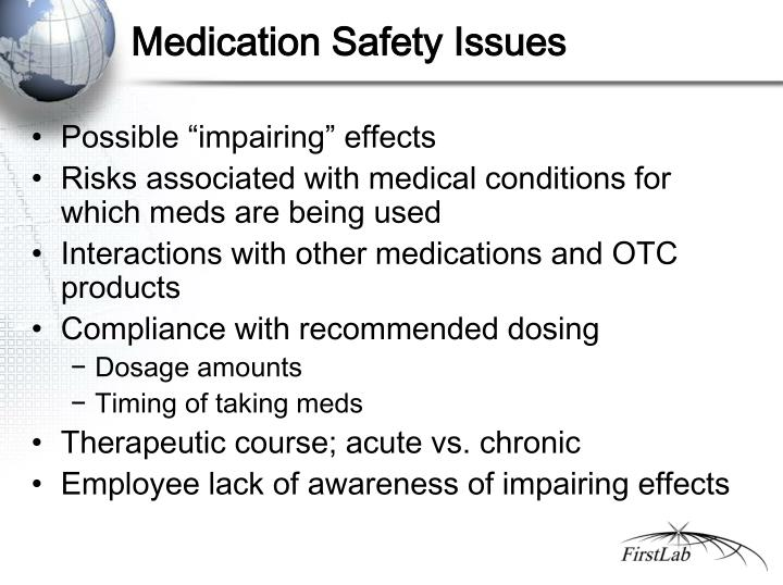 Medication Safety Issues