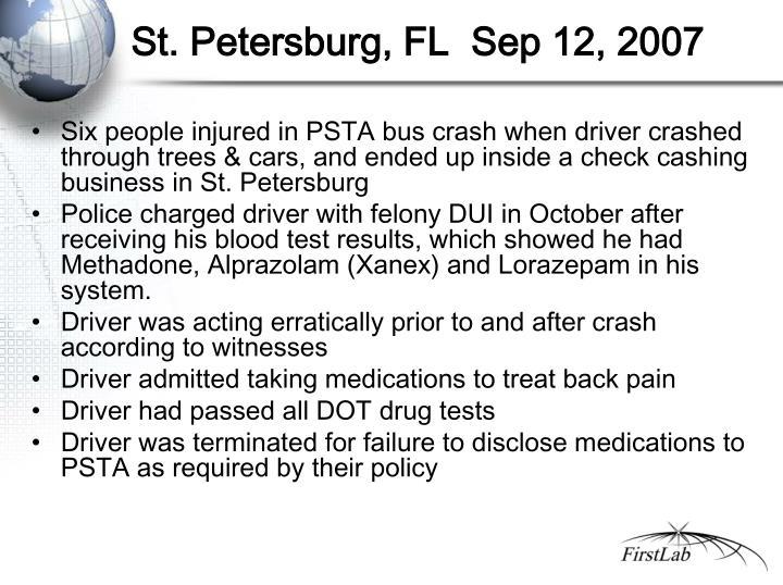 St. Petersburg, FL  Sep 12, 2007