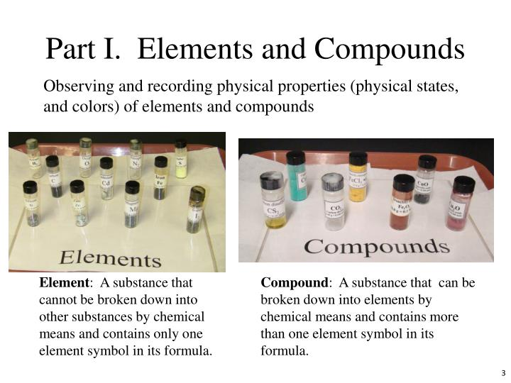Part I.  Elements and Compounds