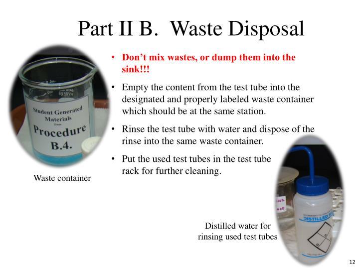 Part II B.  Waste Disposal