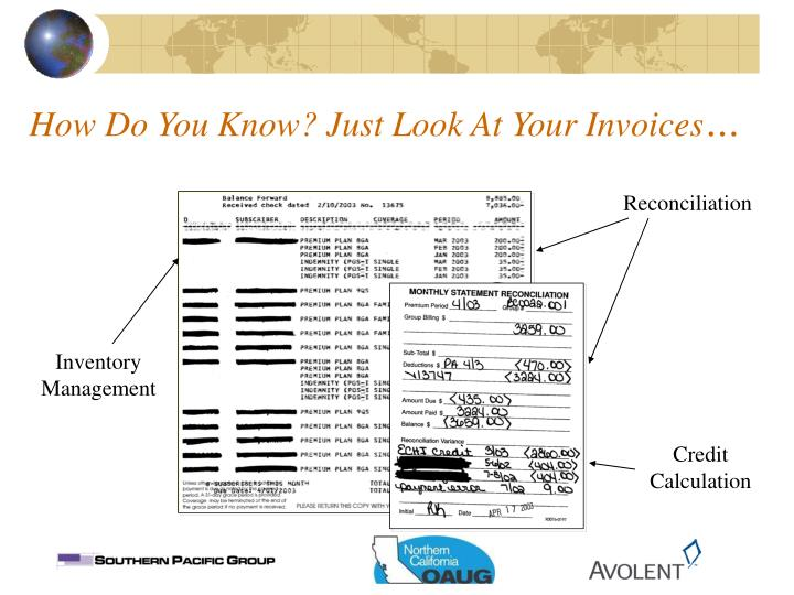 How Do You Know? Just Look At Your Invoices
